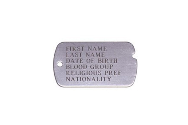 Olive Planet Post Photo dog tag 1